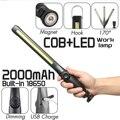90000lm Smuxi портативная Рабочая лампа 360 ° COB светодиодный фонарик Магнитный масштабируемый затемнения 3 режима перезаряжаемый водонепроницаем...