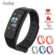 Smart Bracelet C1 Color Screen Waterproof wristband Blood Pressure Measurement Heart Rate Monitor Fitness Tracker Band Montre