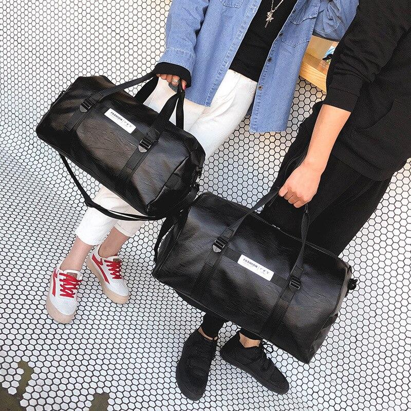 Bolsa de viaje para hombre PU zapatos independientes impermeables bolsa de fitness para mujer ejercicio de yoga - 6