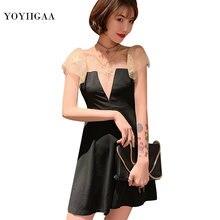 Модное женское мини платье женские платья с оборками и рукавами