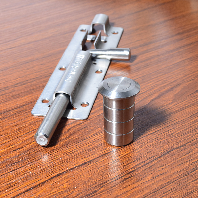 """6"""" Stainless Steel Door Latch Sliding Lock Barrel Bolt with Ground Plug Hole Dust Cover Safety Gate Window Latch Hasp Hardware"""