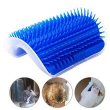 Gato do animal de estimação auto groomer grooming ferramenta remoção do cabelo escova pente para cães gatos cabelo derramamento aparar gato dispositivo de massagem com catnip