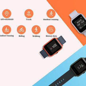 Image 2 - İngilizce sürüm akıllı saat Amazfit Bip Hua mi Mi Pace Lite IP68 GPS Gloness Smartwatch kalp hızı 45 gün bekleme