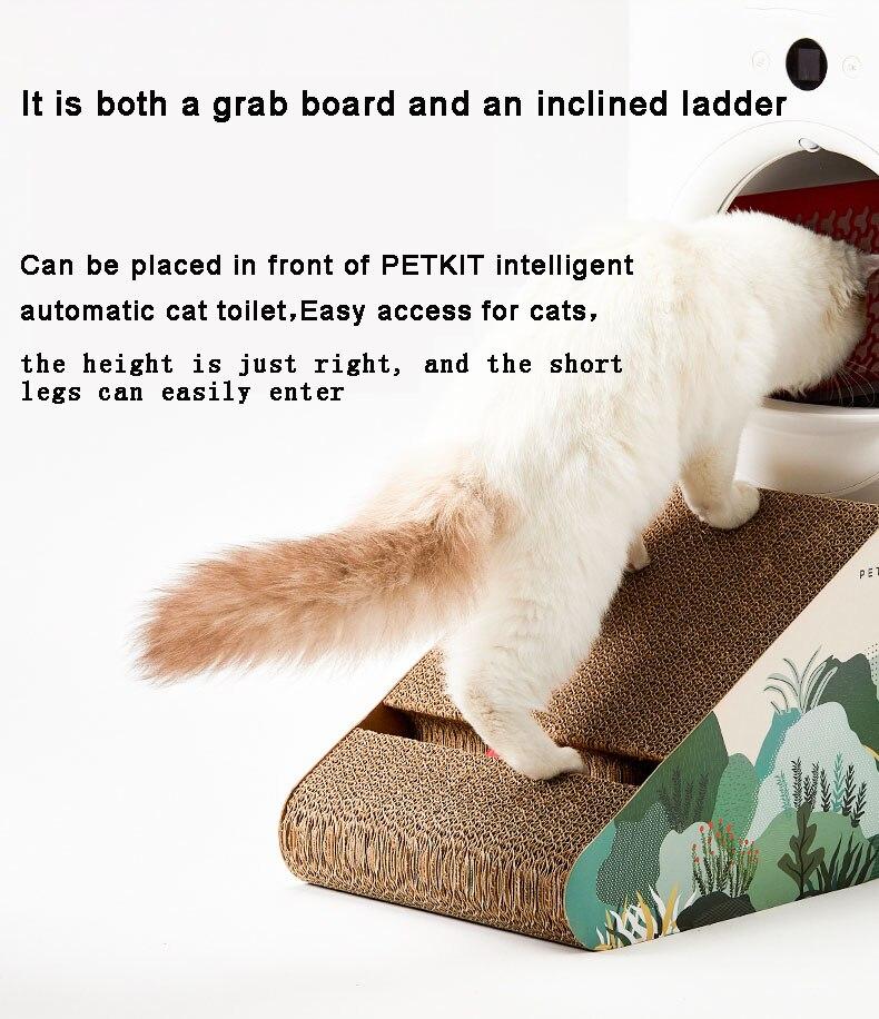 Petkit inclinado escada gato scratch board gato