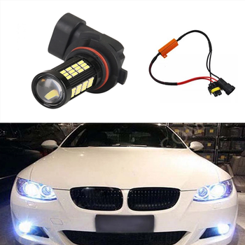 1X H8 H11 Car Fog Lamp Driving Light Bulbs No Error For BMW E63 E64 E90 E91 E92 E93 328i 328xi X5 E53 E70 E46 325i 330i X3 E83 image