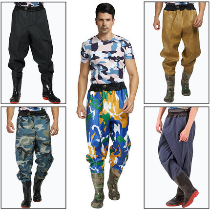 Multifuctional Wader 75s Waist high Fishing Waders With Wading Pants Boots Nylon + PVC Fishing Gear Boot Outdoor A345