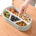 Овальные закуски  сухое блюдо для фруктов и конфет  коробка для орехов  контейнер для завтрака  контейнеры с крышкой LXY9
