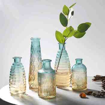 decorative nordic decoration home decor vases interior vase glass scandinavian Flower Arranging Green Plants Hydroponic Device 1
