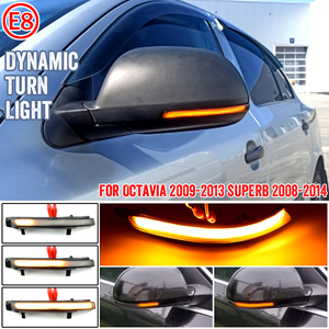 LED Dynamic Turn Signal Light Side Mirror Indicator Blinker Sequential Lamp For Skoda Octavia 1Z3 1Z5 09-13 Superb B6 3T4 08-14