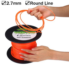 50m Strong Trimmer Strimmer Brushcutter Nylon Cord Line Wire String Rope For Grass Strimmer Thick Home Garden Tool Supplies