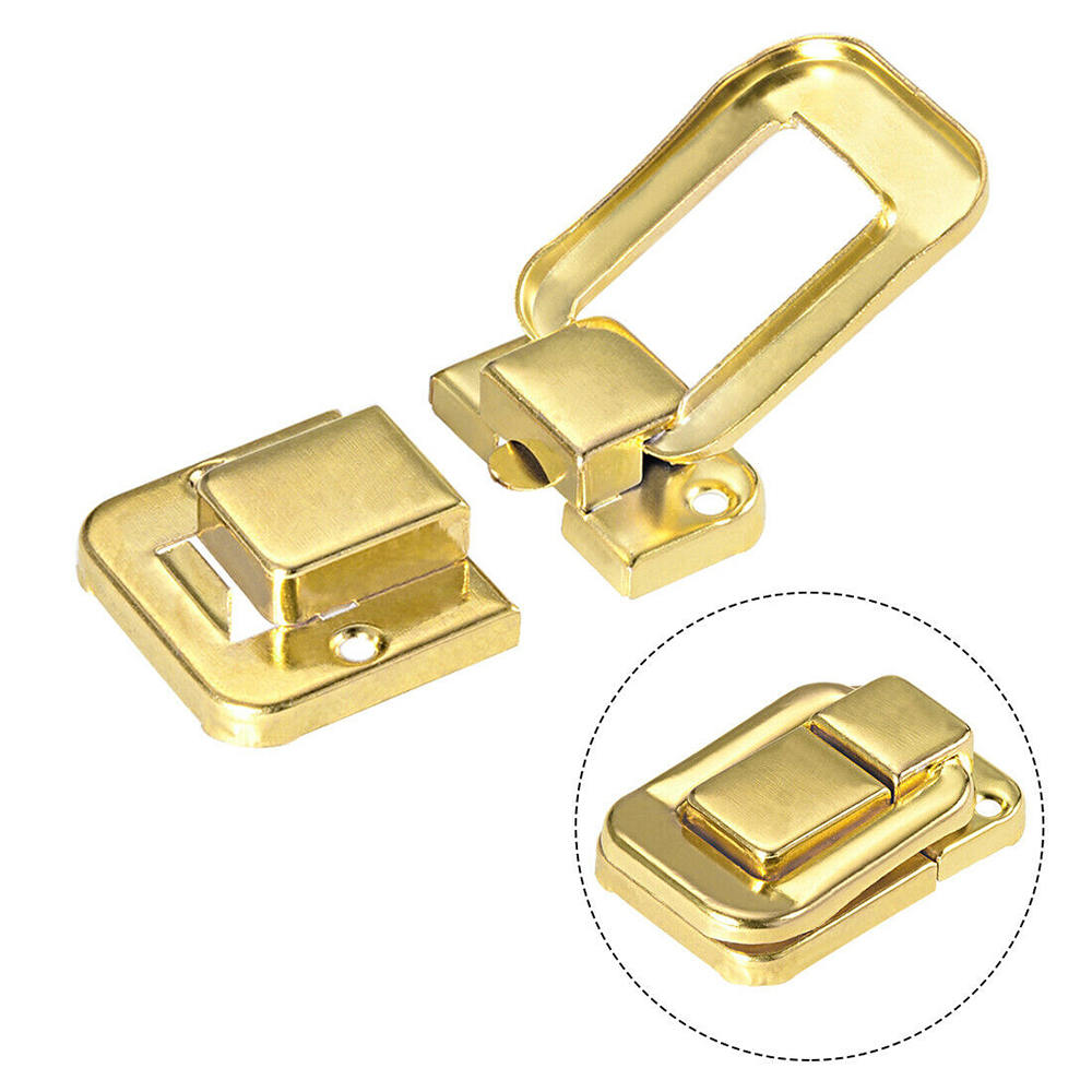 38mm Retro Decorative Bronze Hasp w Screws for Suitcase Chest Trunk Latch Clasp uxcell Toggle Catch Lock Pack of 2