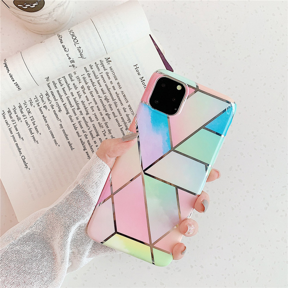 Marble Plating Case for iPhone SE (2020) 26