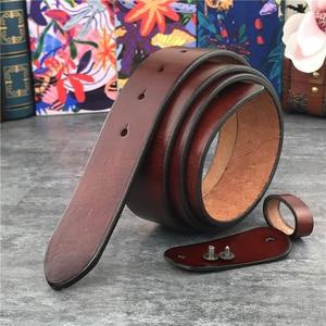 Image 4 - Superหนาหนังแท้เข็มขัดไม่มีเข็มขัดชายเข็มขัดชายCeintureเข็มขัด 95 125 ซม.SP01