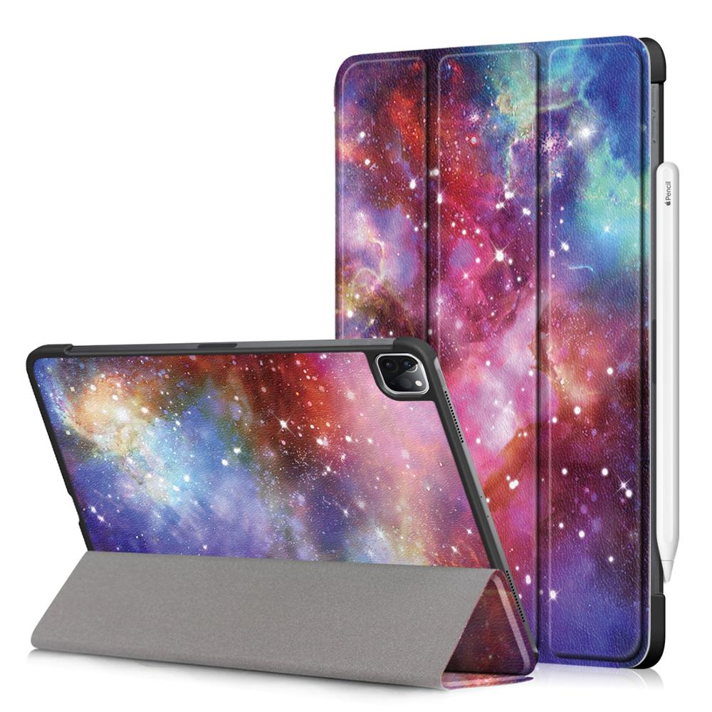 C Beige PU Leather Foldable Stand Case for iPad Pro 11 2020 Case Cover for Apple iPad Pro