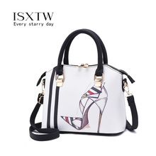 цена на ISXTW Fashion Handbag PU Leather Ladies Messenger Bag Printing Ladies Shoulder Bag Ladies Party Handbags Shell Bag 2019 / D16