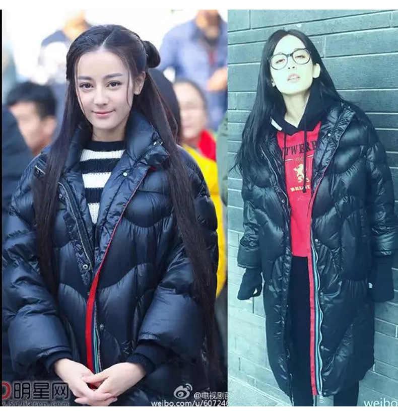 2019 estilo coreano dilly reba-inverno novo estilo solto-ajuste meados de comprimento para baixo jaqueta feminina grande tamanho casaco feminino grosso