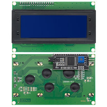 LCD 2004 + I2C 2004 20x4 2004A синий экран HD44780 символ LCD /w IIC/I2C серийный интерфейс адаптер модуль для arduino