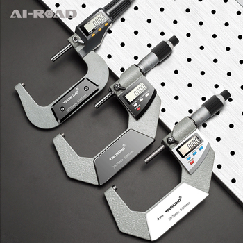 0.001mm Electronic Outside Micrometer 0-25  25-50 50-75MM Digital Micrometer Caliper Gauge Meter Carbide Tip Measure Tools