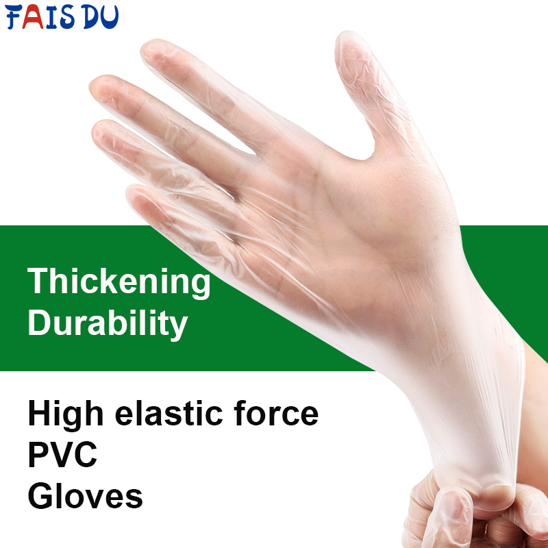 20/50/100 PCS Transparent Disposable PVC Gloves For Household Cleaning  Sterilization Kitchen Medical Adult Children Gloves