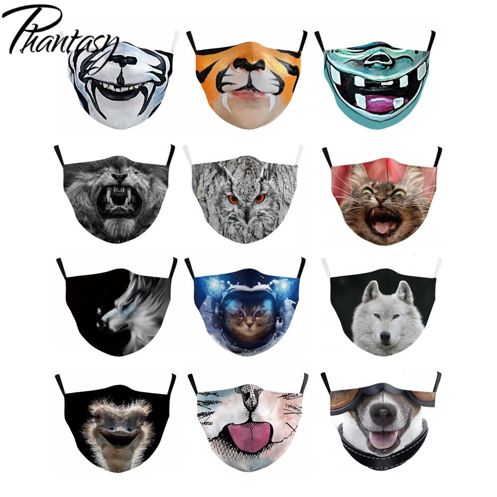 Phantasy 1Pcs Anti Dust PM2.5 Face Mouth Cute Animals Printed Dustproof Children Mouth Face Mask Breathable Mask Reusable