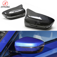 G21 Carbon Fiber Mirror cover LHD For BMW G20 side Rear View Mirror Cover M Look styling replacement&add on new 3 series 2019+ carbon fiber side wing mirror covers for porsche panamera 970 2010 2014 2015 2016 add on style rear view mirror cover only lhd