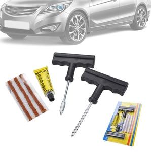 Image 3 - 6 pçs universal motocicleta carro sem câmara de ar roda pneu reparação plug kits rasp agulha correção ferramentas cimento conjunto acessórios do carro automóvel