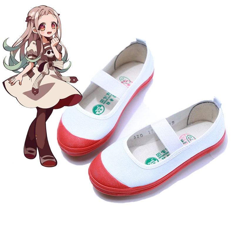 Anime Toilet-bound Jibaku Shounen Hanako Kun Nene Yashiro Cosplay Shoes Sakura Nanamine Costume Shoes for Women Girls