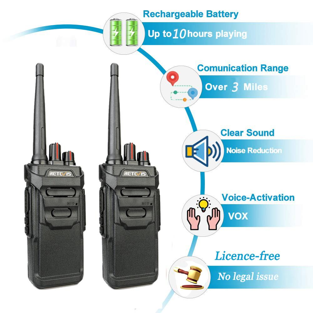 2pcs RETEVIS RT48/RT648 IP67 Waterproof Walkie Talkie Floating PMR Radio PMR VOX UHF Two Way Radio Comunicador For Baofeng UV-9R