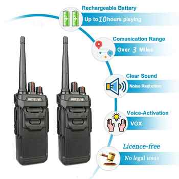2pcs RETEVIS RT48/RT648 IP67 Waterproof Walkie Talkie Floating PMR Radio PMR VOX UHF Two Way Radio Comunicador For Baofeng UV-9R