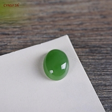 CYNSFJA Real Rare Certified Natural Hetian Jade Jasper Lucky Loose Stone Green High Quality Private Custom Fine Jewelry Best Gifts