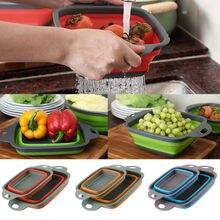 2 шт./компл. складной силиконовый дуршлаг складной корзина для белья дренажный фильтр корзина с ручкой аксессуары для кухни инструменты