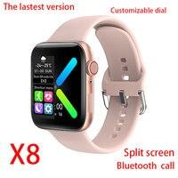 Reloj inteligente deportivo para hombre y mujer, pulsera completamente táctil con Bluetooth, llamadas, Monitor de ritmo cardíaco, papel tapiz, reloj inteligente personalizado