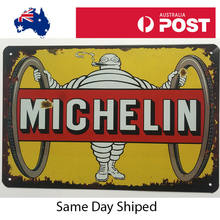Michelin Tyre Metal Tin Sign Garage Rustic Man Cave Poster Wall Decor(China)