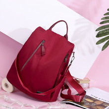 Waterproof Oxford Women Backpacks School Bags for Teenager Girls Anti-theft Red Backpacks Travel Shoulder Bag Famale Rucksack unisex laptop backpacks anti theft bags for men s for women oxford usb composite for school trip for teens green shoulder bag