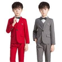 New Flowers Boys Formal Suit Kids Wedding Party Dress Kids Blazer