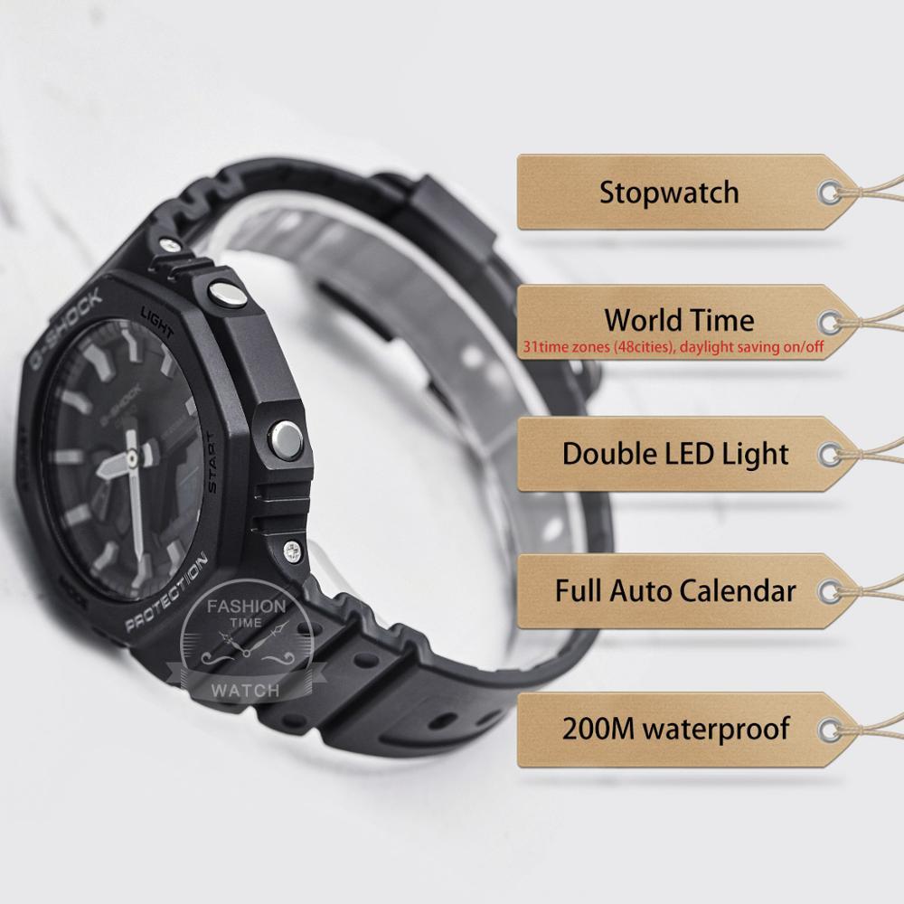Relógio Casio g shock Relógio Ultra fino para homens top de luxo conjunto Duplo LED militar Chronograph men watch relogio digital watch 200m Relógio de pulso de quartzo impermeável esporte mergulho relógios g shock - 2