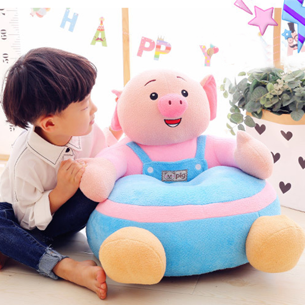 Baby Plush Chair Learning To Sit Sofa Support Seat Cover Comfortable Toddler Nest Puff Washable Without Filler Cradle Sofa Chair