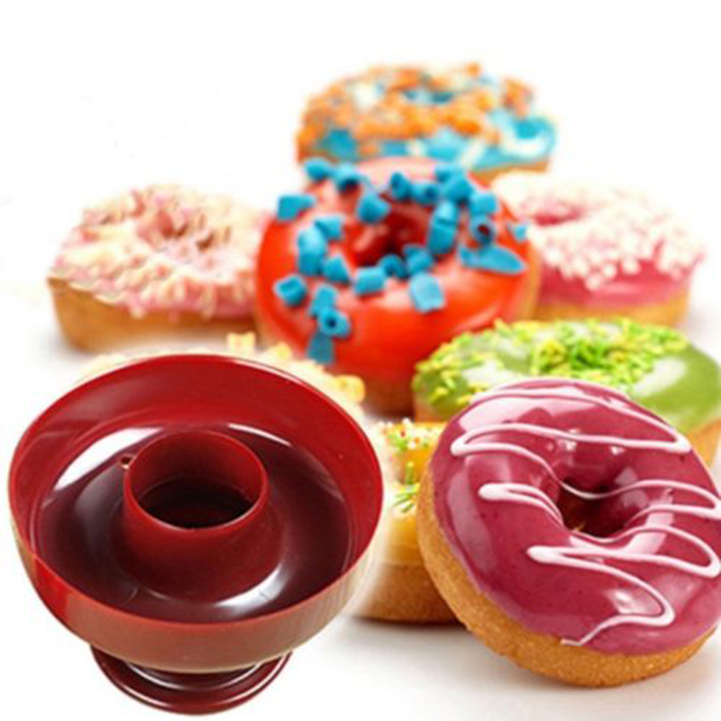 Round Doughnut Maker Cute Shaped Soft Candy Cake Bread Dessert Bakery Mould Plastic Kitchen Baking Tools