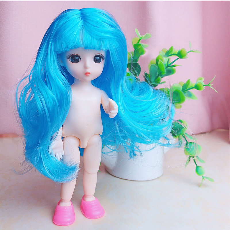 Cute 16cm 13 Movable Jointed Dolls Toys Mini BJD Baby Girl Doll Naked Nude Body Fashion Dolls Toy For Girls Gift