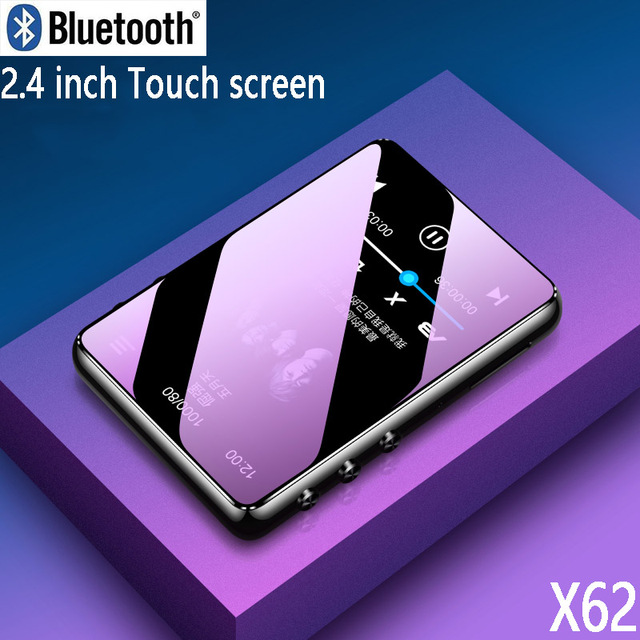 Оригинальный металлический MP3 плеер Bluetooth 5,0, сенсорный экран 2,4 дюйма, встроенный динамик 16 ГБ, электронная книга, Радио, запись, воспроизведение видео