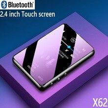 Reproductor MP3 de metal con Bluetooth 5,0, pantalla táctil, altavoz incorporado de 2,4 pulgadas, 16G, radio e book, grabación, reproducción de vídeo
