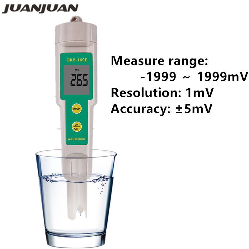 ORP/Redox 169E Tester Waterproof ORP Meter,ORP Tester 0~+/-1999mV Water Quality Tester 23% Off