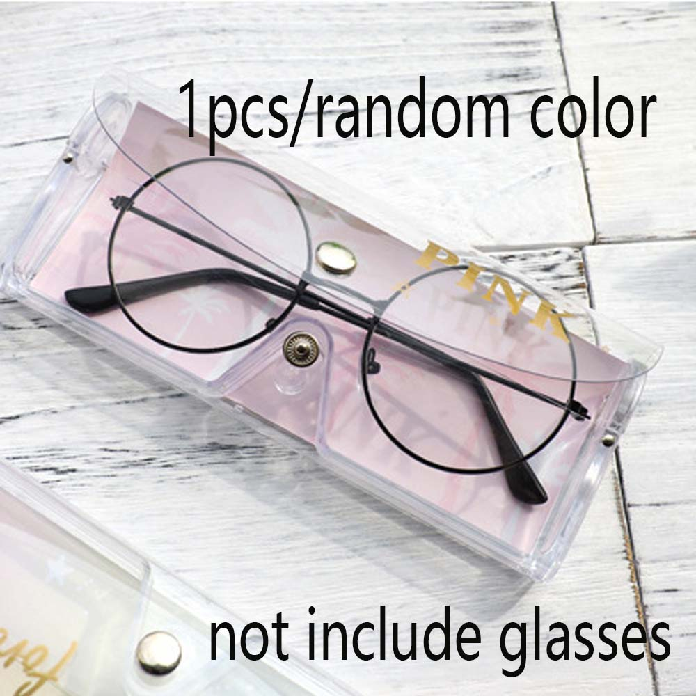 Transparent Spectacle Case Reading Glasses Case Eyeglass Hard Box Cover Glasses Light Plastic Material Easy Carry New Arrival