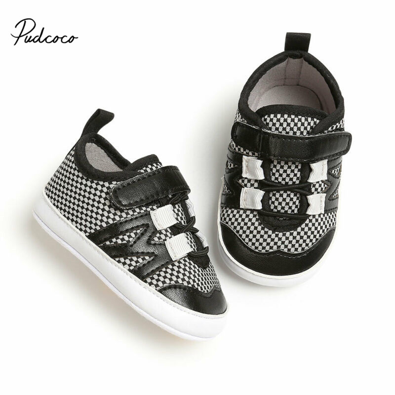Pudcoco Newborn Baby Shoes Boy Crib Shoes Pre Walking Trainers Infant Toddler Sports Sneakers 2019 Patchwork Kids Shoes