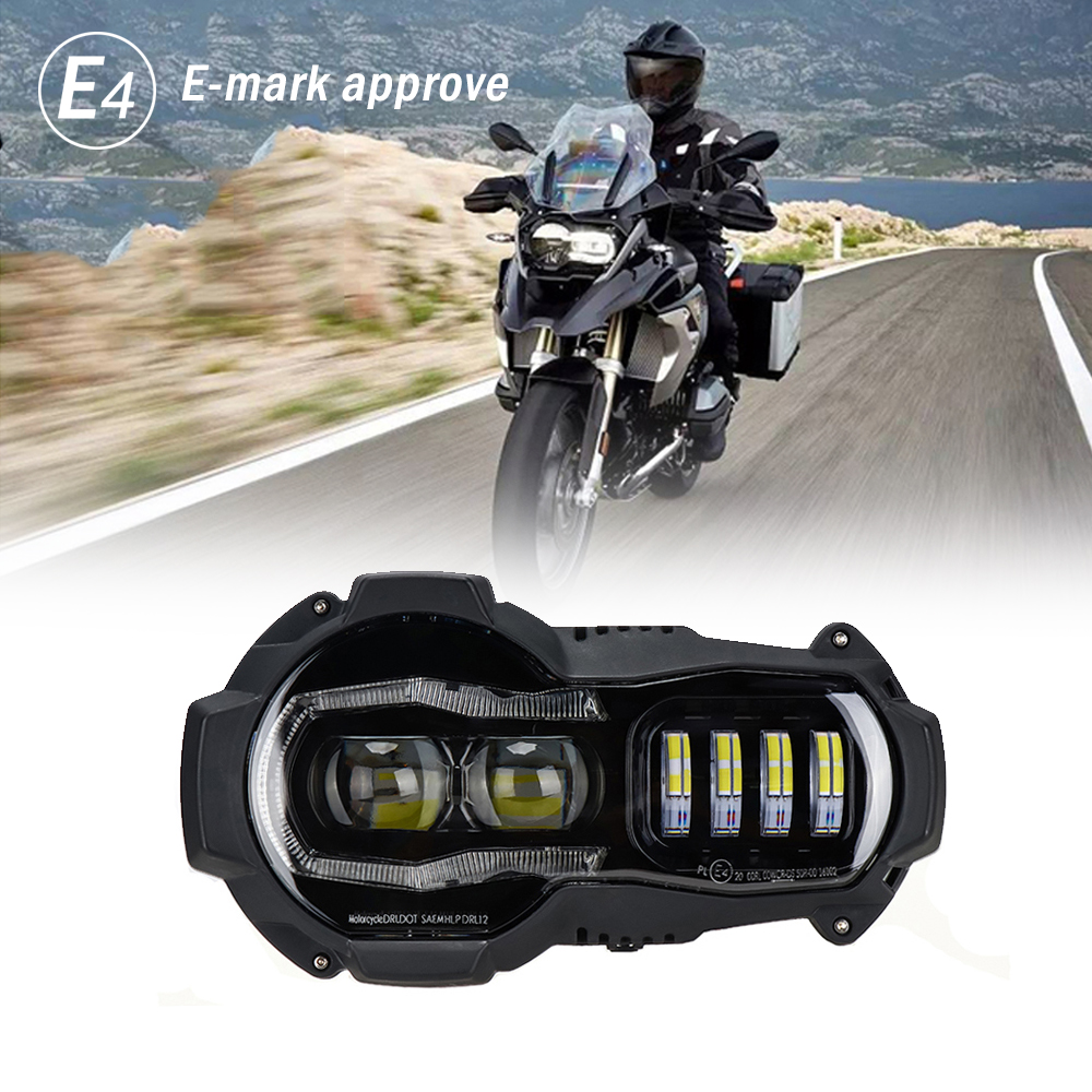 New Arrival!Motorcycle LED Headlights Projector for BMW R1200GS 2004-2012 R 1200GS ADV Adventure 200