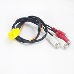 Biurlink MINI ISO 6-контактный разъем адаптера линейного выхода 4-канальный кабель 4RCA штекер для VW Seat Skoda Audi Ford VDO