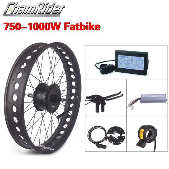 Yağ bisiklet elektrikli tekerlek 52V 1000W kar bisiklet kiti 48V 750W elektrikli bisiklet dönüşüm kiti 4.0 tekerlek ebike kiti MXUS XF15Fat Hub Motor
