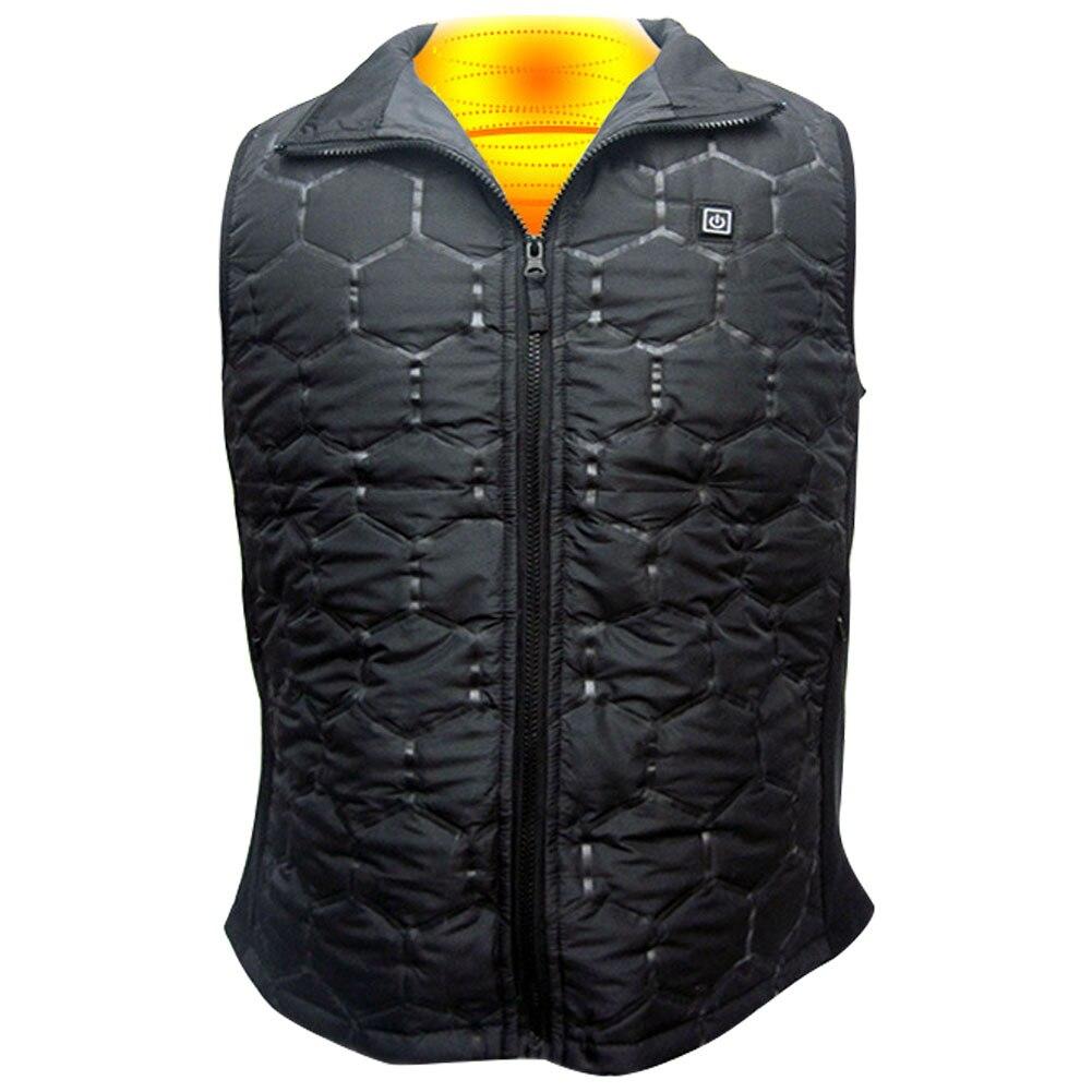 3speed Men Women Thermal Travel Heating Vest Hiking Waterproof Carbon Fiber Winter Temperature Adjust Electric Warm USB Charging