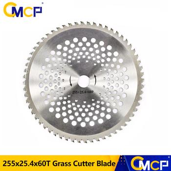 CMCP 10 Cal ze stopu trymer ostrze 60T kosiarka do trawy trawy Eater głowica trymera kosa do zarośli ostrze tarczowe nóż narzędzia ogrodnicze tanie i dobre opinie xcan 2-suwowy Anti-slip Zmuszony chłodzenie powietrzem GCJDP25560T Na benzynę gaz Profesjonalne kosiarki