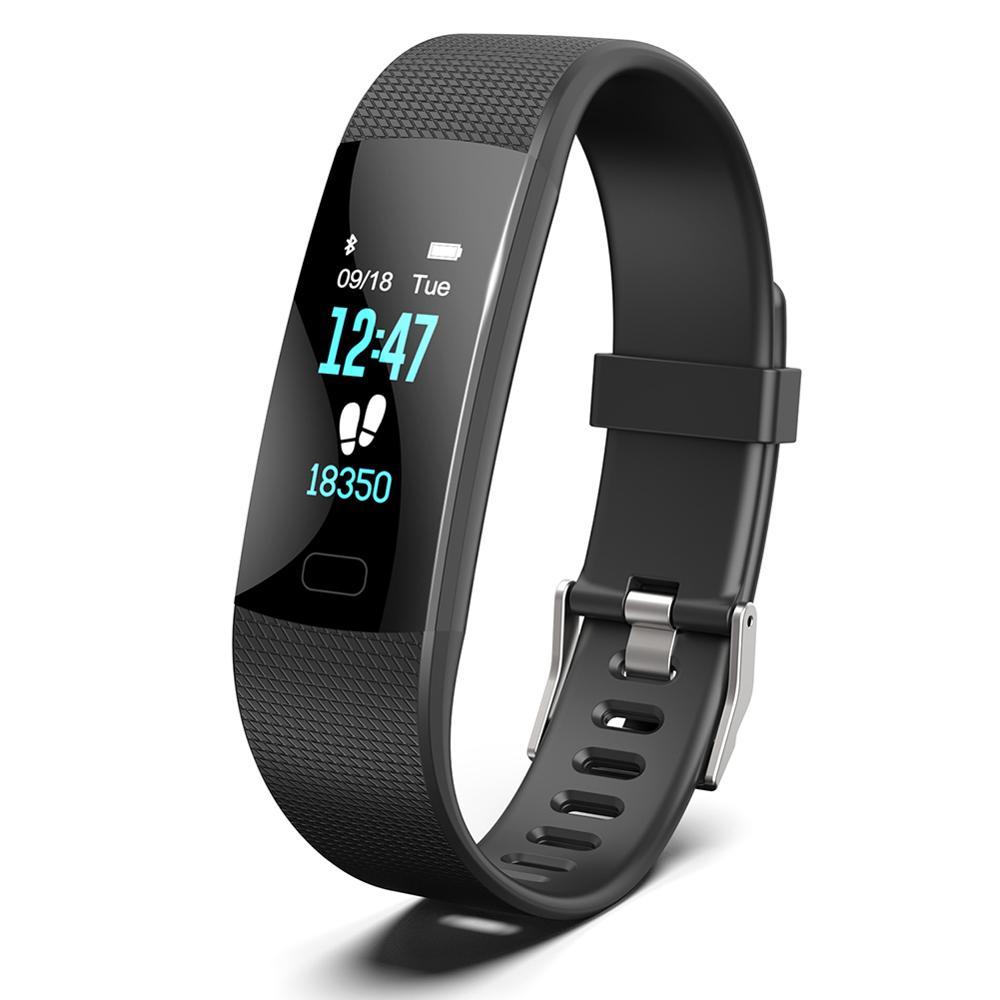 Y1 цветной экран умный Браслет мониторинг сердечного ритма Bluetooth спортивный браслет одноточечный сенсорный комфортный ремешок IP67 одежда